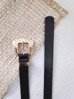 Jetta Black Womens Leather Belt | Brecha Belts