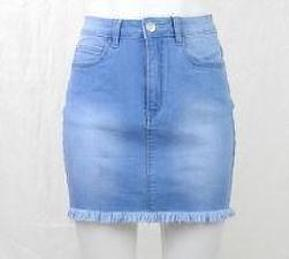 Fray Hemmed Country Denim Skirt -  - Brecha