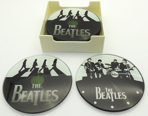 Beatles Coasters Glass 6 Pack
