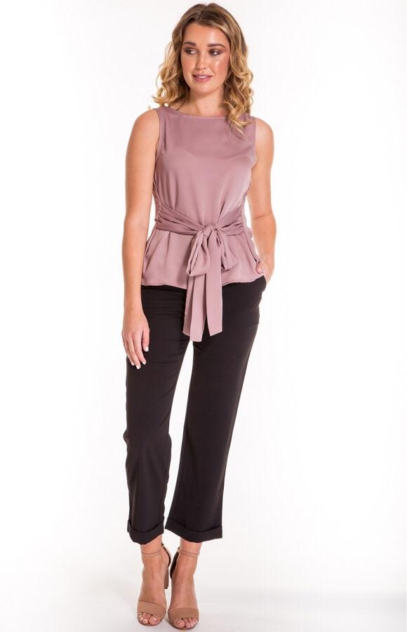 Style State Sleeveless Top With Belt Details -  - Brecha Australia