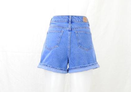 Mid Blue High Rise Denim Short - High Rise Denim Short - Brecha Australia