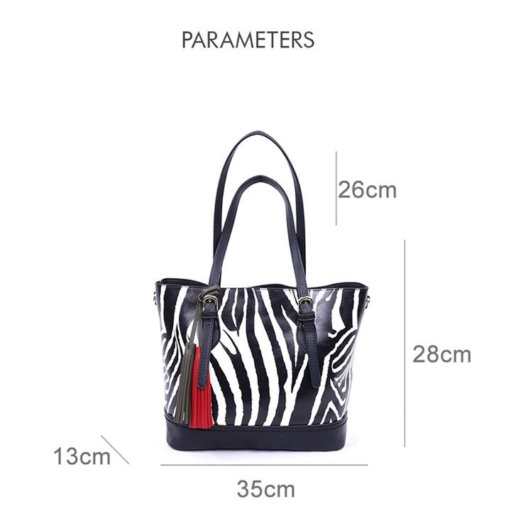 Animal Pattern Tassel Shoulder Bag -  - Brecha Australia