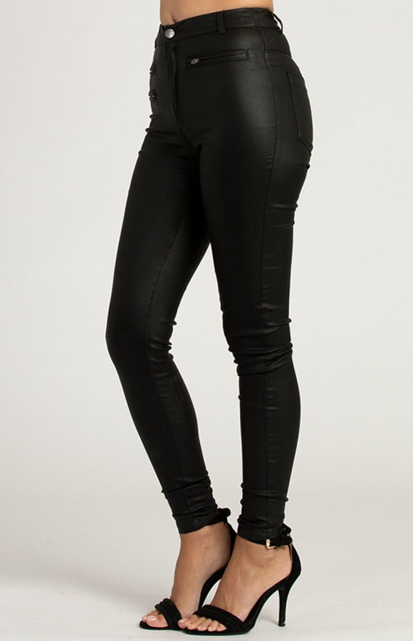 Textured Skinny Black Jeans | Womens Jeans | Brecha