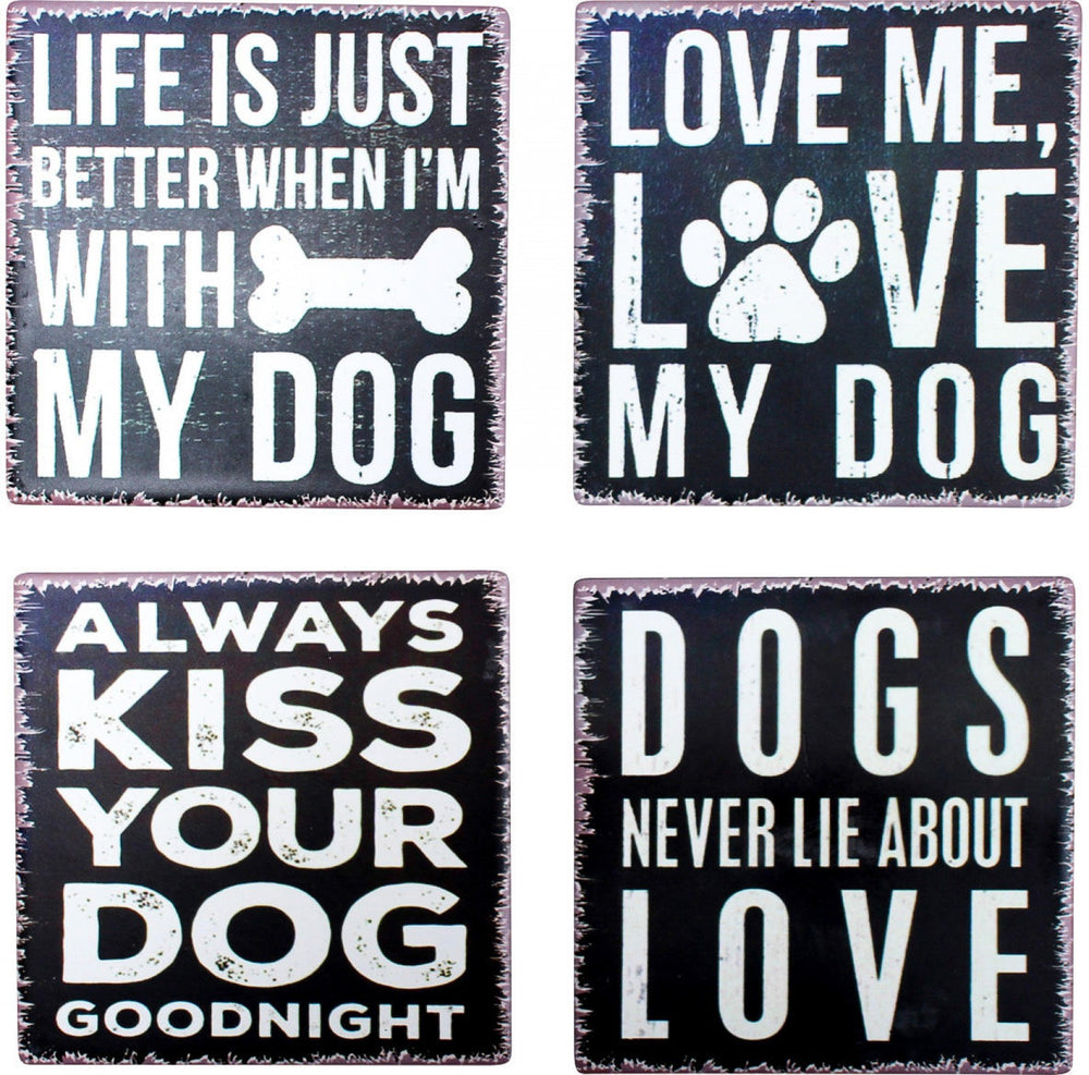 Coaster Dog Sayings | Brecha Home
