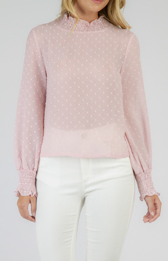 Sheer 3D Textured Top Style State