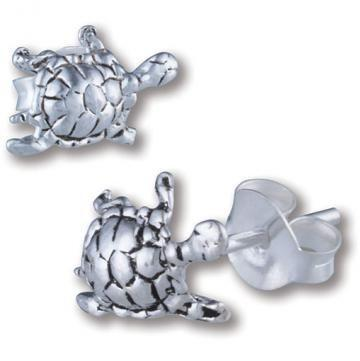 Turtle Studs Sterling Silver - Sterling Silver Earrings - Brecha Australia