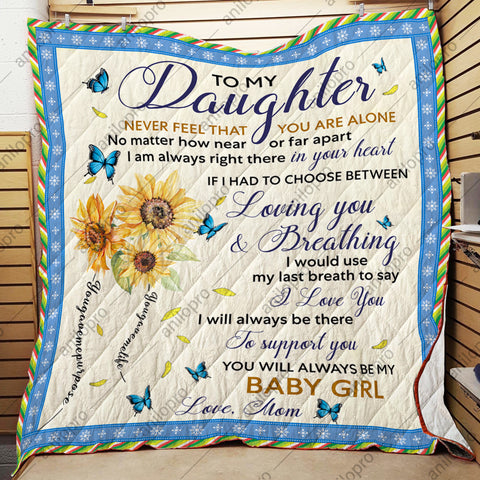 Image of [Q1036] QUILT - MOM TO DAUGHTER - LOVING YOU