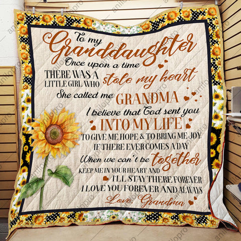 Image of QUILT - GRANDMA TO GRANDDAUGHTER - ONCE UPON A TIME