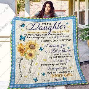 [Q1036] QUILT - MOM TO DAUGHTER - LOVING YOU