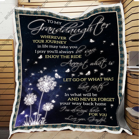 Image of BLANKET - GRANDPA TO GRANDDAUGHTER - ENJOY THE RIDE