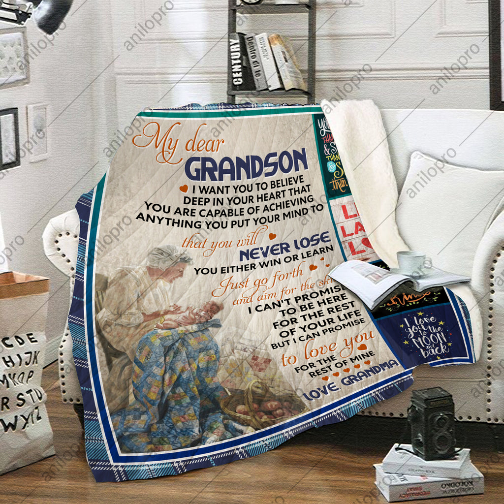 QUILT - GRANDMA TO GRANDSON - NEVER LOSE