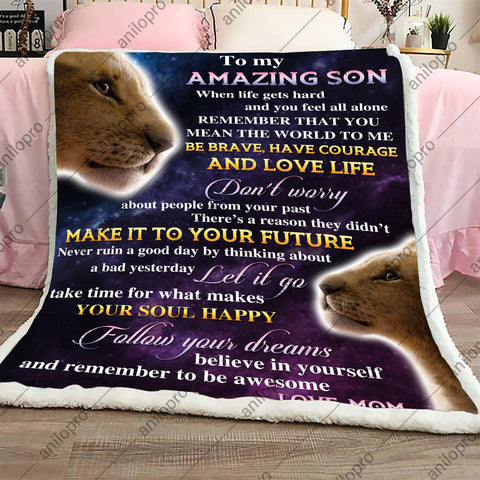 Image of BLANKET - MOM TO SON - LOVE LIFE