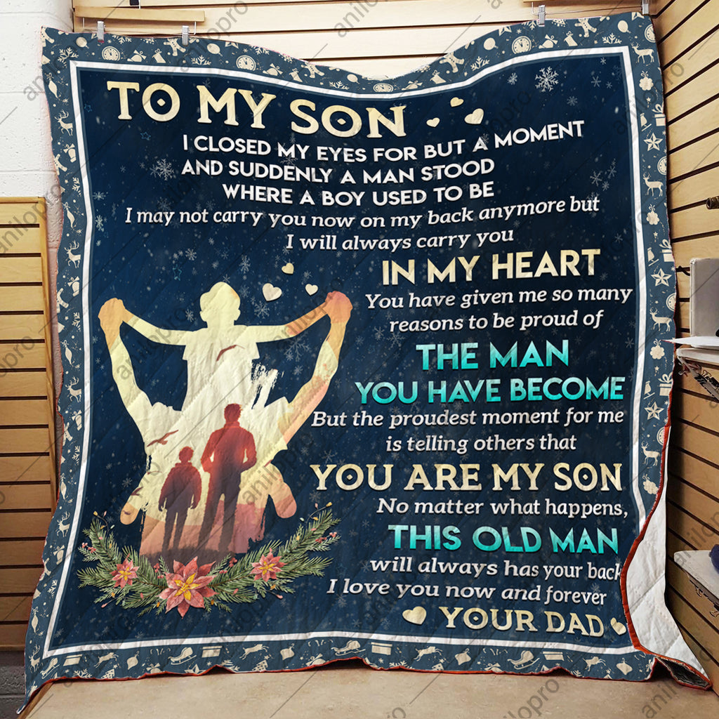 QUILT - DAD TO SON - YOU ARE MY SON