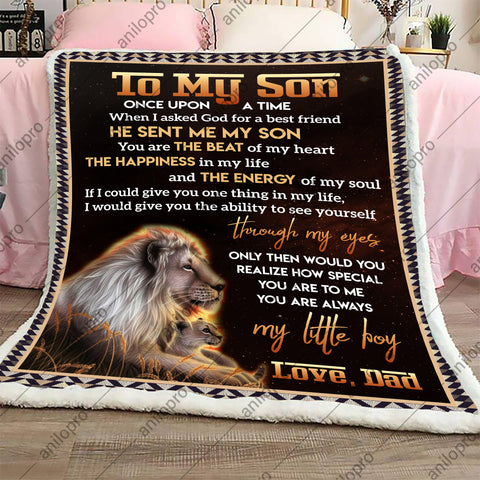 Image of BLANKET - DAD TO SON - I ASKED GOD FOR A BEST FRIEND