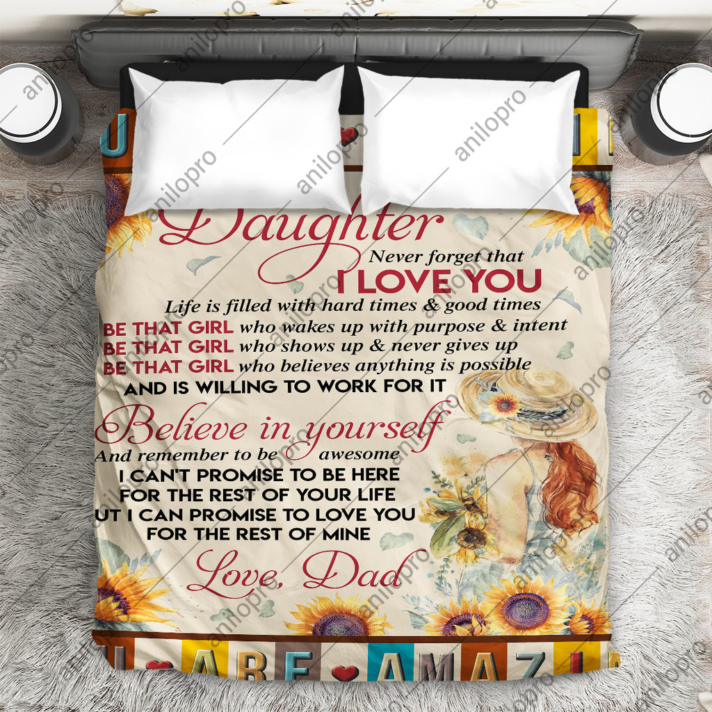 [Q1032] QUILT - DAD TO DAUGHTER - BE THAT GIRL