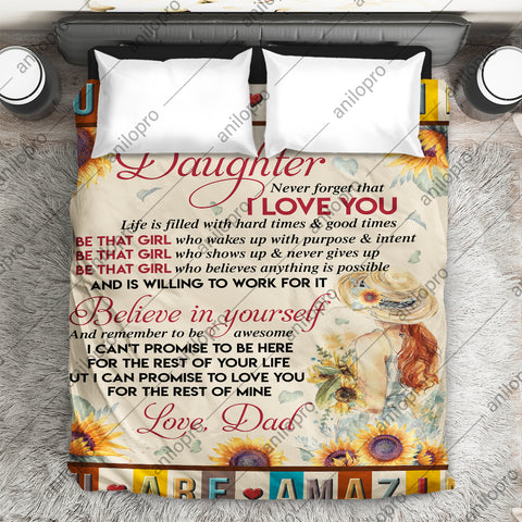 Image of [Q1032] QUILT - DAD TO DAUGHTER - BE THAT GIRL