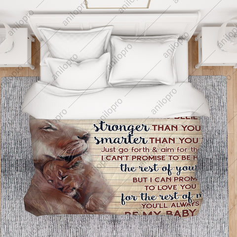 Image of [Q1039] QUILT - MOM TO SON - LOVE YOU FOR THE REST OF MINE