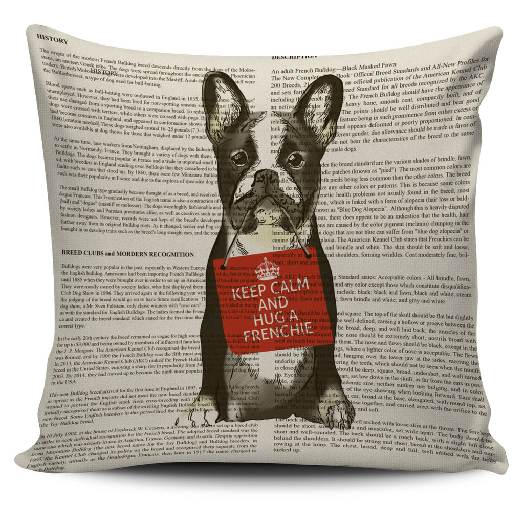 Hug A Frenchie Pillow