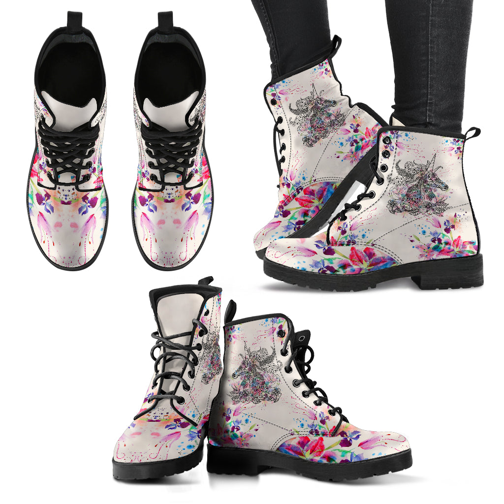 Unicorn Leather Boots for Women