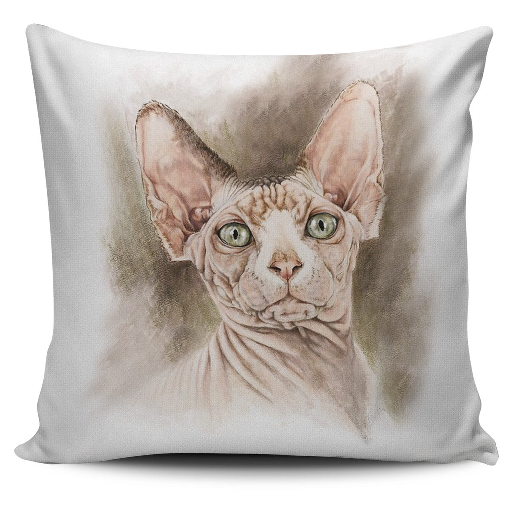 Sphynx Cat Pillow Cover
