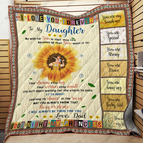 [Q1001] QUILT - DAD TO DAUGHTER - GOOD NIGHT MY PRINCESS