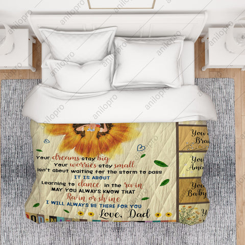 Image of [Q1001] QUILT - DAD TO DAUGHTER - GOOD NIGHT MY PRINCESS