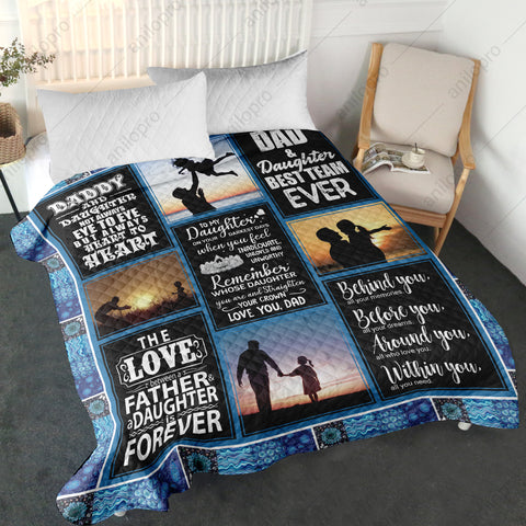 Image of QUILT - DAD TO DAUGHTER - ALWAYS HEART TO HEART