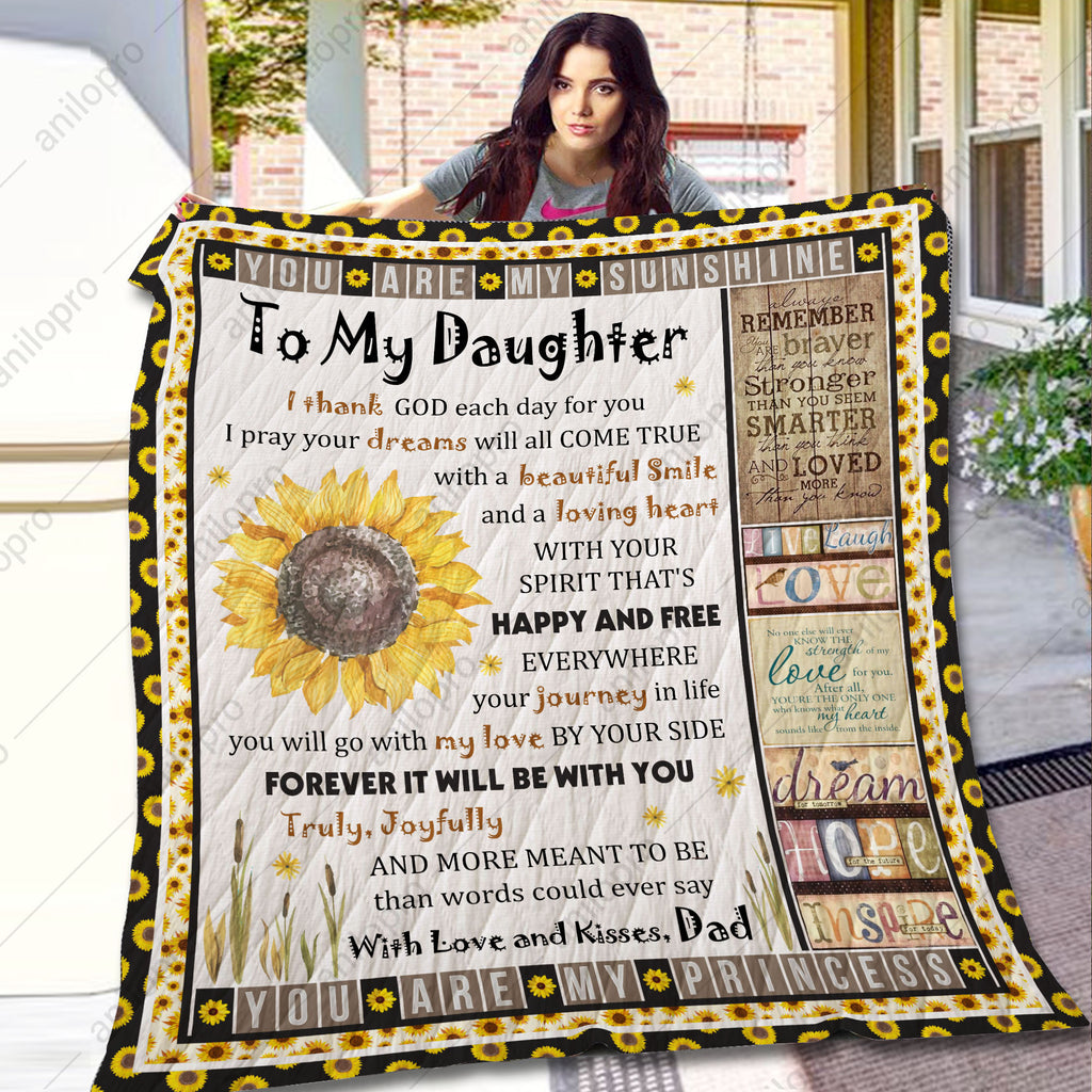 [Q1005] QUILT - DAD TO DAUGHTER - MY LOVE WILL BE WITH YOU