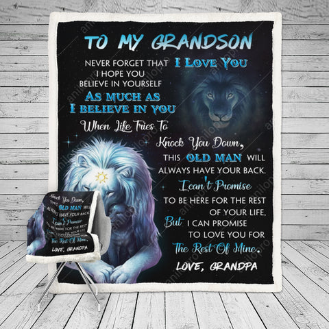 Image of [BL1012] BLANKET - GRANDPA TO GRANDSON - THIS OLD MAN