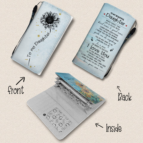 Image of I Love You To The Moon And Back - Sunflower Wallet