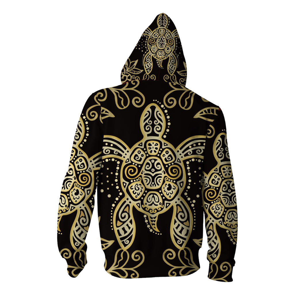 Sea Turtle Zip Up Hoodie