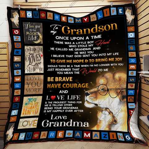 Image of QUILT - GRANDMA TO GRANDSON - YOU CALLED ME GRANDMA