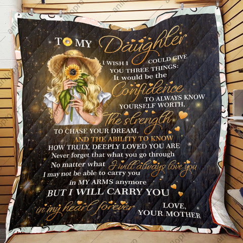 Image of QUILT - MOM TO DAUGHTER - GIVE YOU THREE THINGS