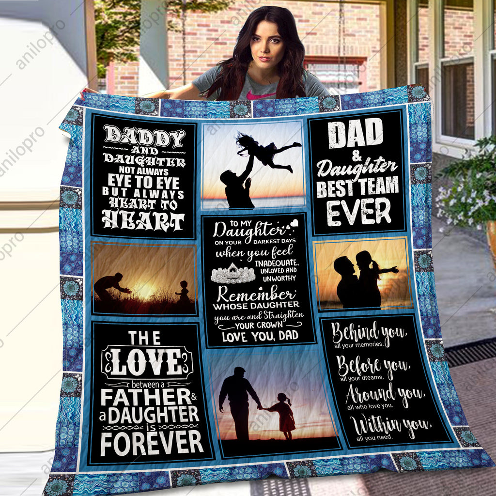 QUILT - DAD TO DAUGHTER - ALWAYS HEART TO HEART