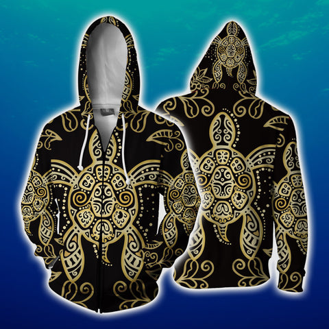 Image of Sea Turtle Zip Up Hoodie