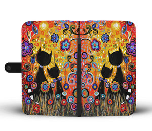 Colorful Cat Wallet Case