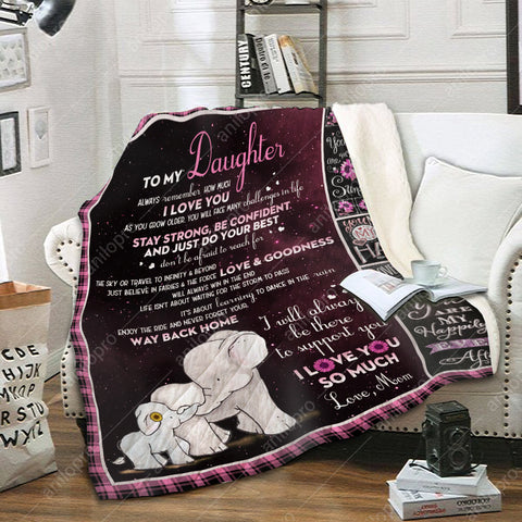 Image of QUILT - MOM TO DAUGHTER - LOVE AND GOODNESS