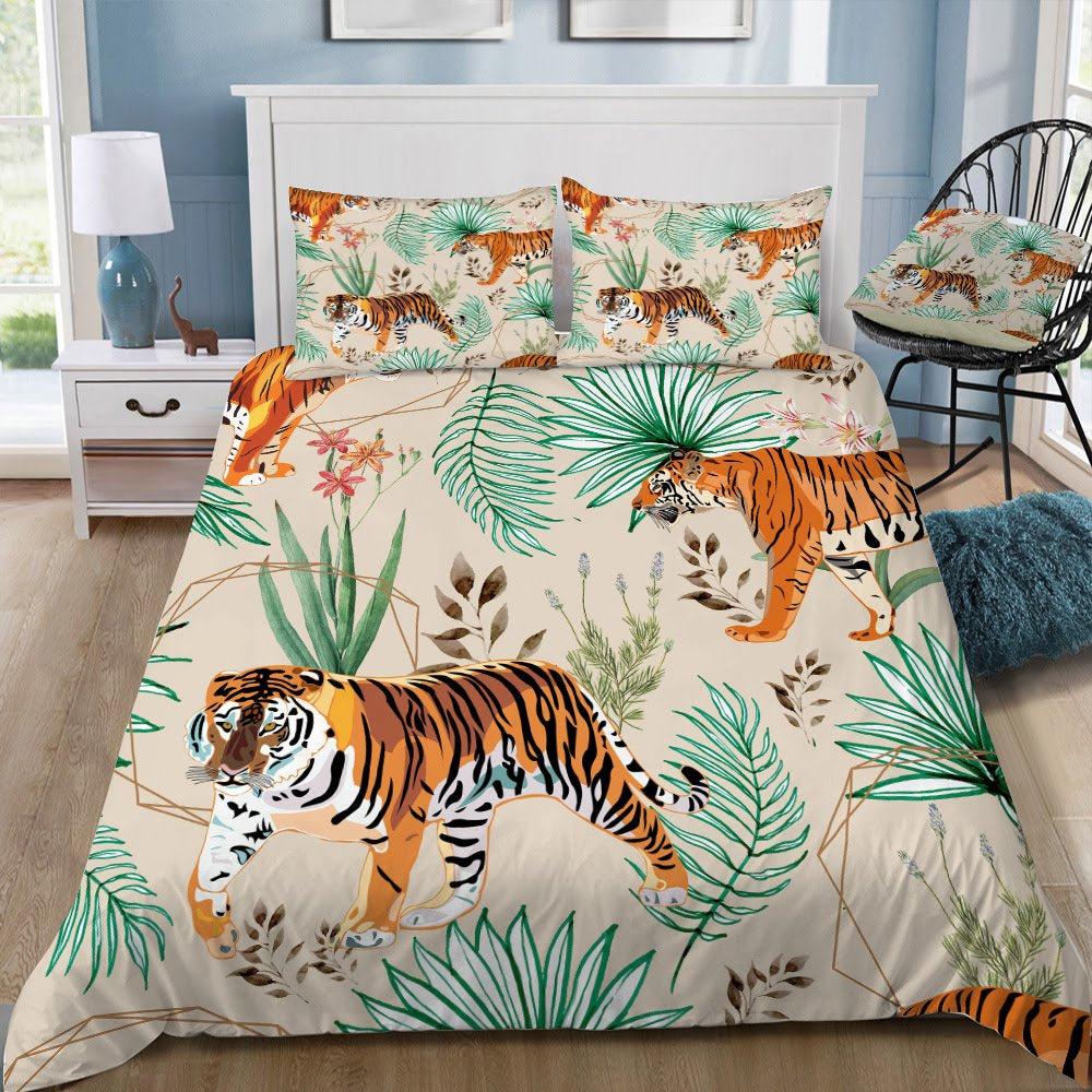 Tropical And Tigers- Bedding Set