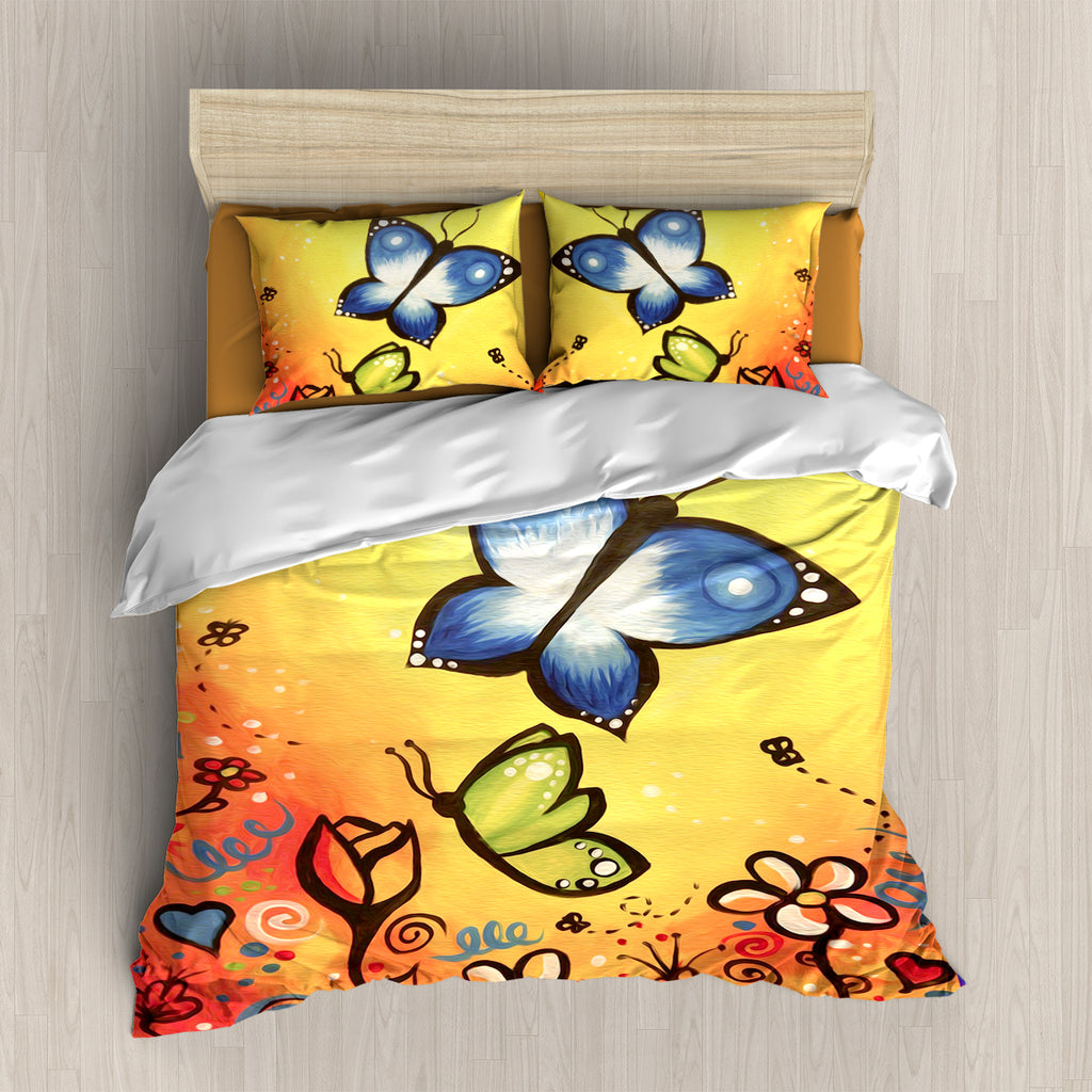 Colorful Butterfly Bedding Set