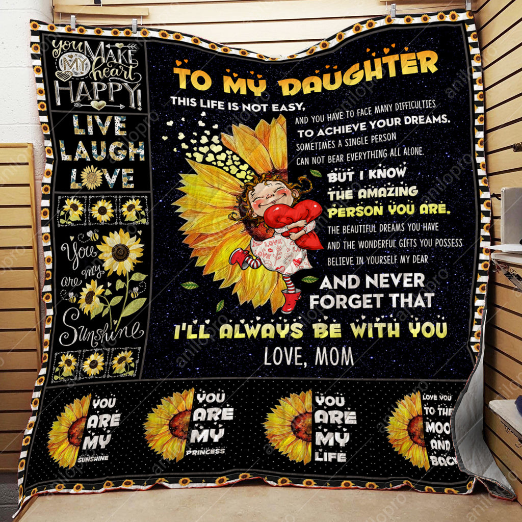 QUILT - MOM TO DAUGHTER - THE AMAZING PERSON YOU ARE