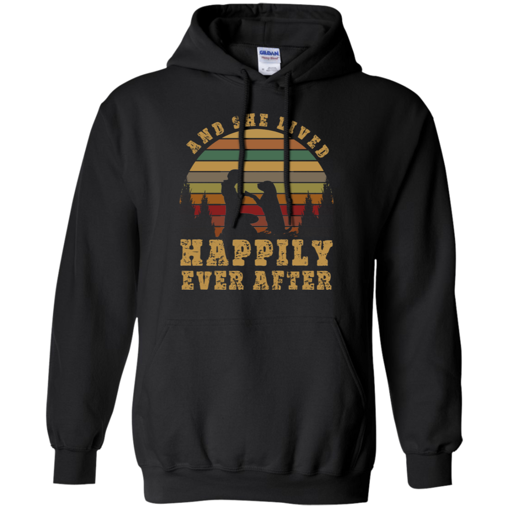 She Lived Happily Ever After Pullover Hoodie