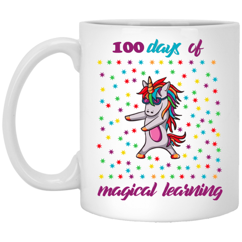 100 Days Of Magical Learning Unicorn Mug Tea Cup White