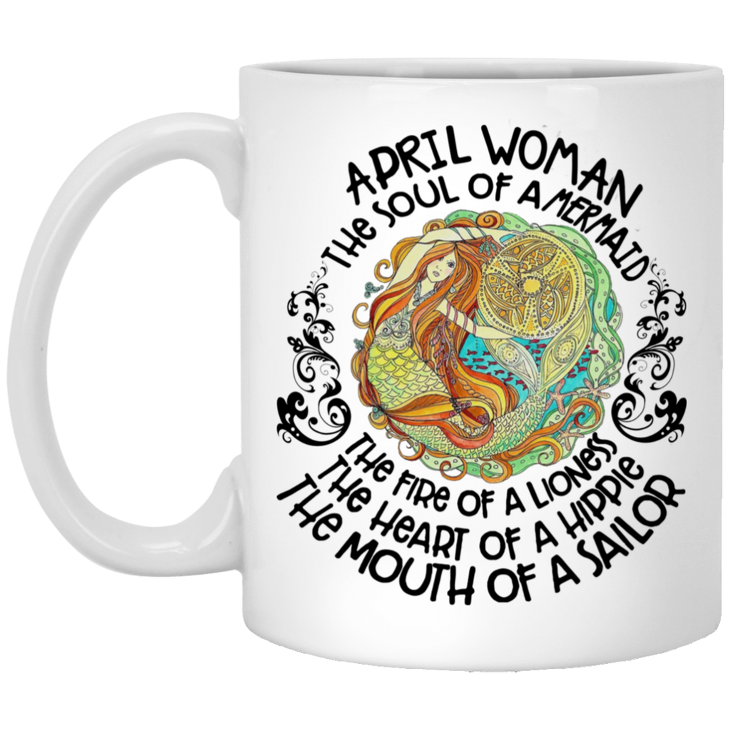 April Mermaid April Woman The Soul Of A Mermaid Mug Tea Cup White