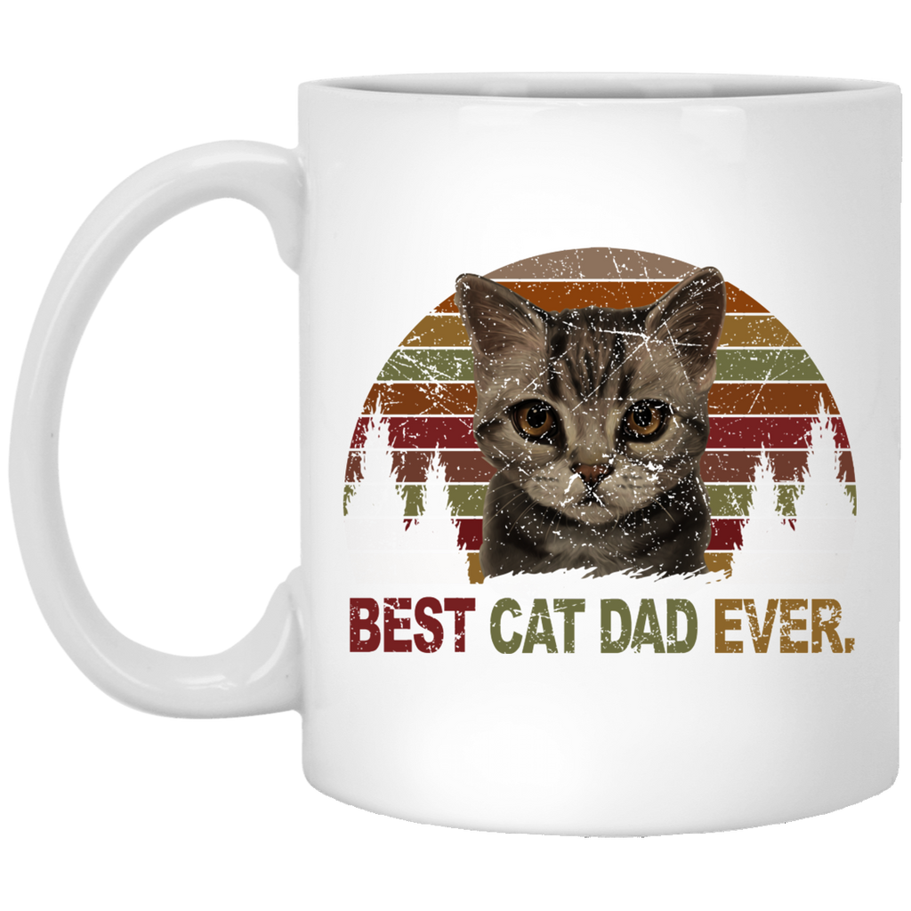 Best Cat Dad Ever Cat Daddy Gift Mug Tea Cup White