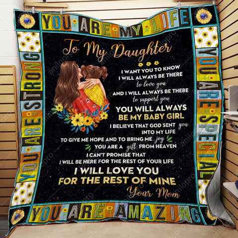 Image of [Q1034] QUILT - MOM TO DAUGHTER - TO SUPPORT YOU