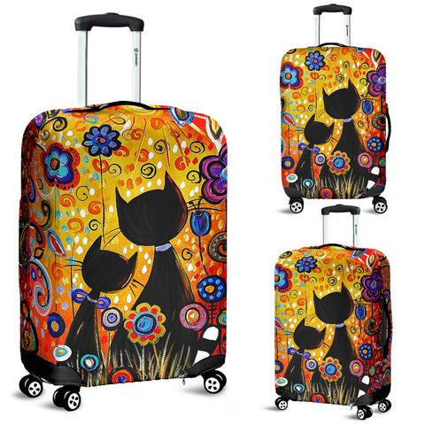 Image of Colorful Cat Luggage Cover