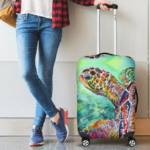 Colorful Turtle Luggage Cover