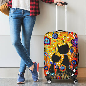 Colorful Cat Luggage Cover