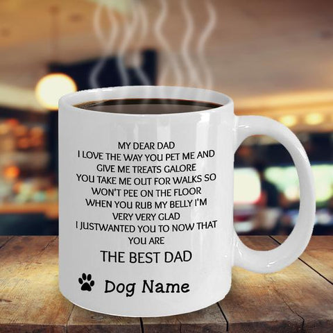 Image of Dog Mug - Gift for Cat Dad/Mom - Custom Photo Dog Mug
