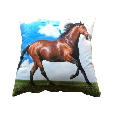Image of Animal 3D Design Horse Tiger for Sofa Throw Pillow